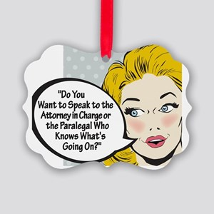 Paralegal In Charge [Comic Editio Picture Ornament
